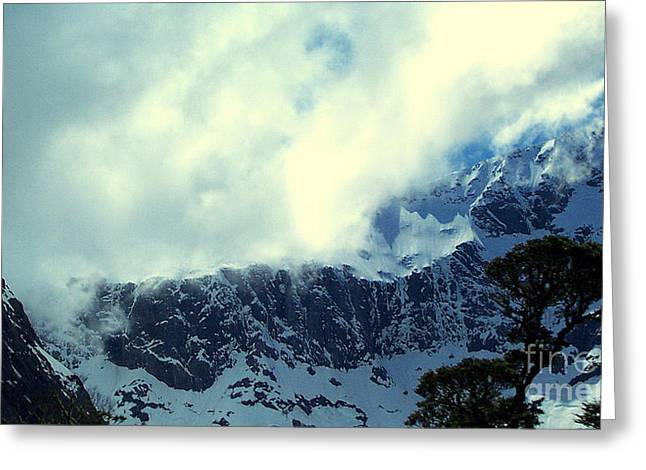 Mountain In New Zealand Greeting Card