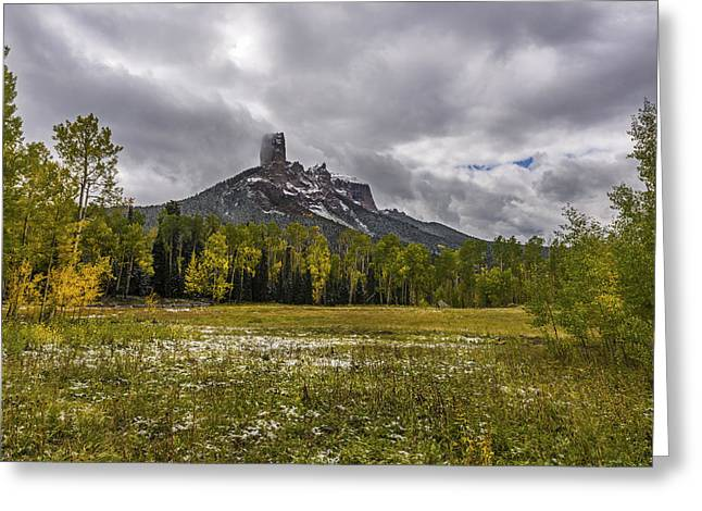 Mountain In The Meadow Greeting Card