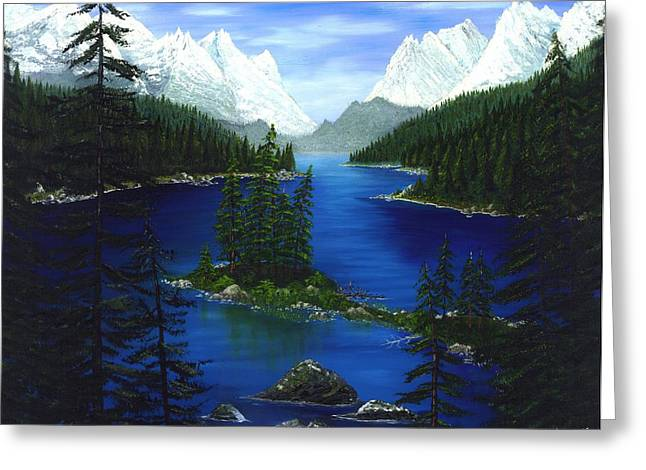 Mountain Lake Canada Greeting Card