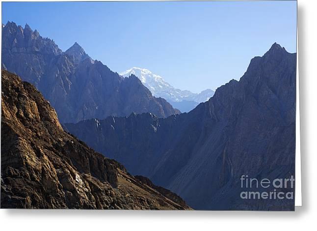 Mountain Landscape In The Karakorum Greeting Card by Robert Preston
