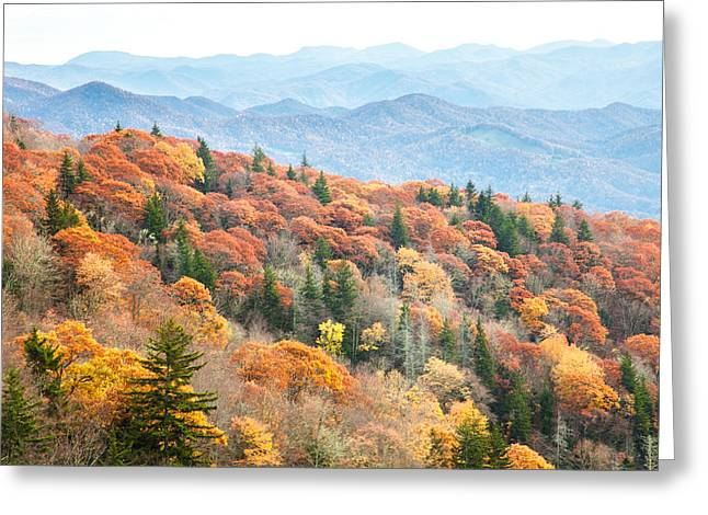 Mountain Layers Greeting Card by Scott Moore