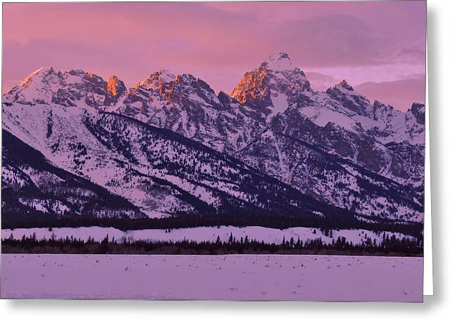 Mountain Light Greeting Card by Stephen  Vecchiotti