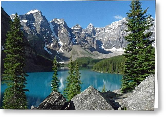 Mountain Magic Greeting Card by Alan Socolik