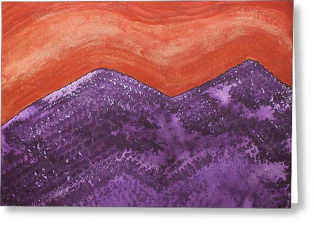Mountain Majesty Original Painting Greeting Card by Sol Luckman