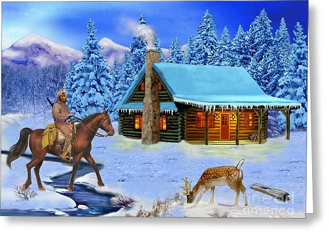 Mountain Man's Wilderness Greeting Card