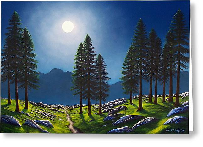 Mountain Moonglow Greeting Card