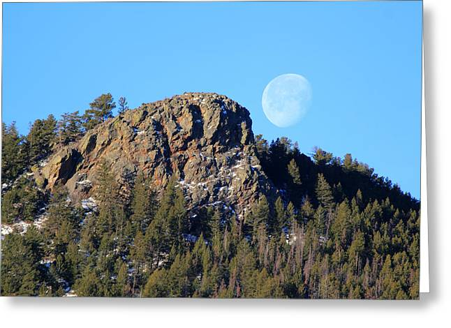 Mountain Moonset Greeting Card