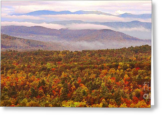 Mountain Mornin' In Autumn Greeting Card