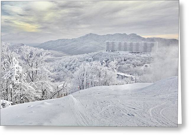 Mountain Morning After The Storm Greeting Card