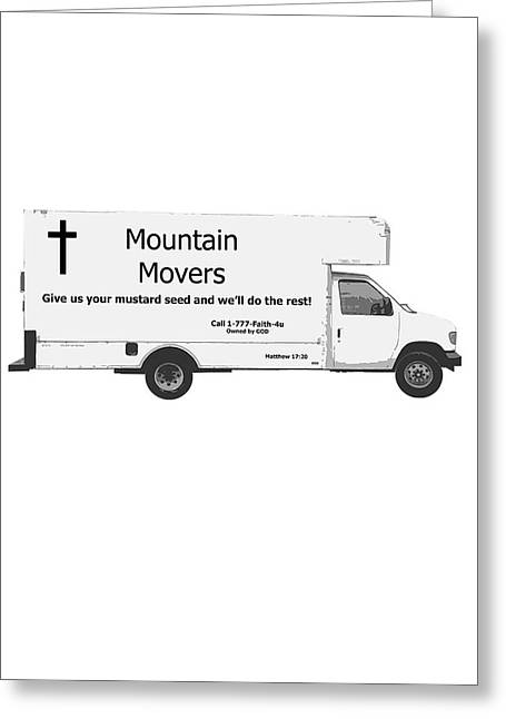 Mountain Movers Greeting Card by Stephanie Grooms