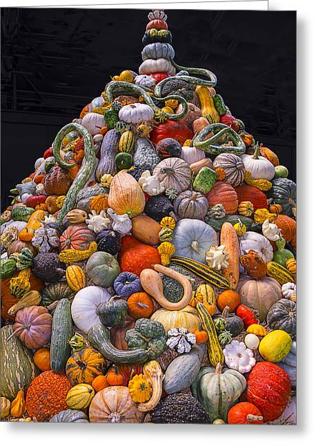 Mountain Of Gourds And Pumpkins Greeting Card by Garry Gay