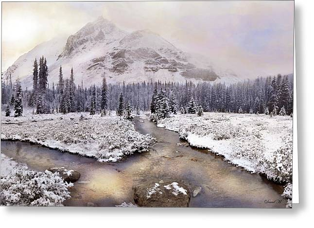Mountain Of Quiet Greeting Card by David M ( Maclean )