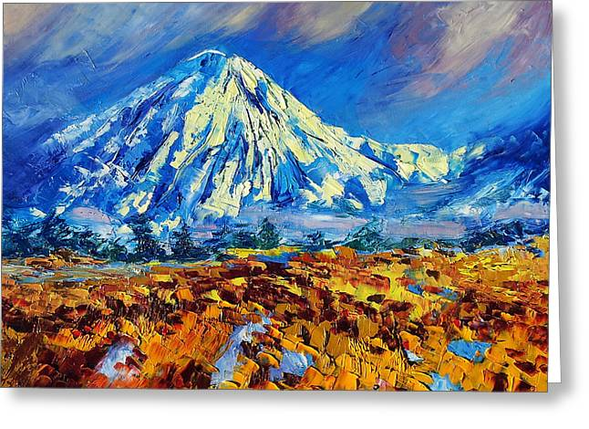 Mountain Painting Fine Art By Ekaterina Chernova Greeting Card