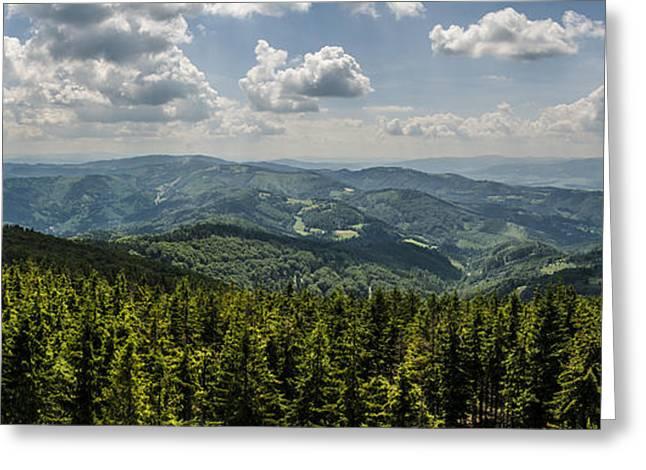 Greeting Card featuring the photograph Mountain Panorama by Jaroslaw Grudzinski