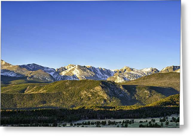 Mountain Panorama Greeting Card by Tom Wilbert