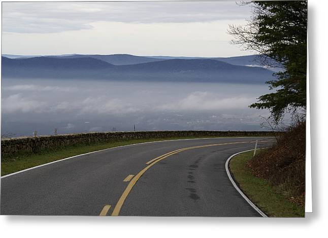 Mountain Pass Greeting Card by Brooks Byrd