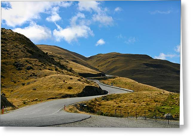 Mountain Pass Road Greeting Card by Jenny Setchell