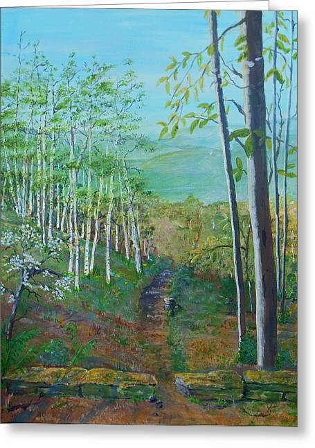 Mountain Path Greeting Card