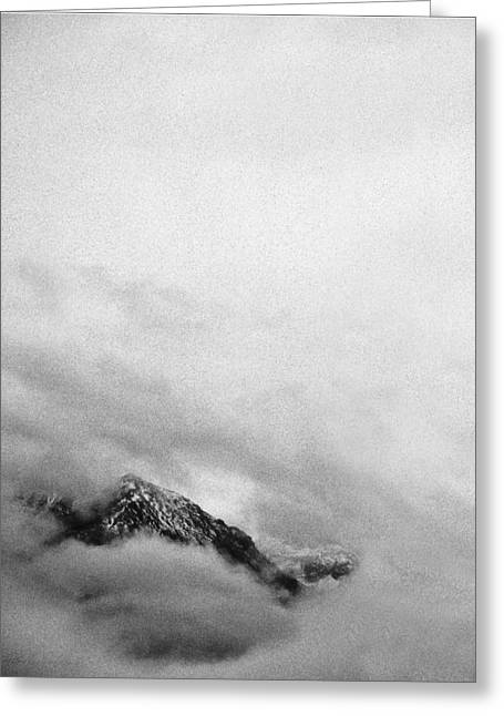 Mountain Peak In Clouds Greeting Card by Peter v Quenter