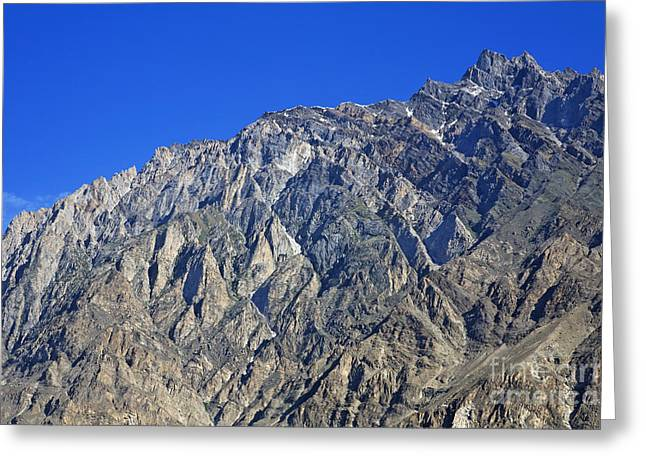 Mountain Peak Of The Hunza Valley Greeting Card by Robert Preston