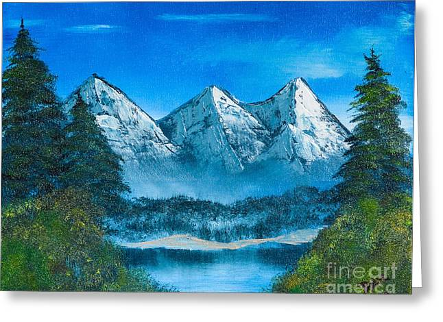 Mountain Pond Greeting Card by Dave Atkins