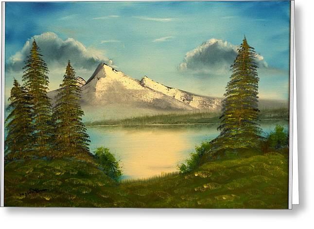 Mountain Pond Greeting Card by Joyce Krenson