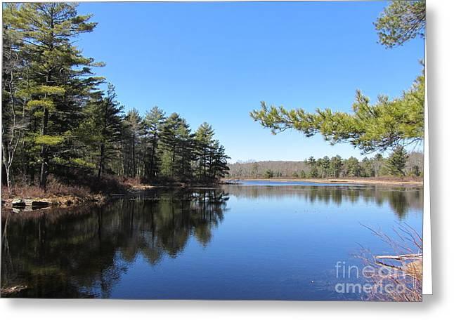 Mountain Pond - Pocono Mountains Greeting Card