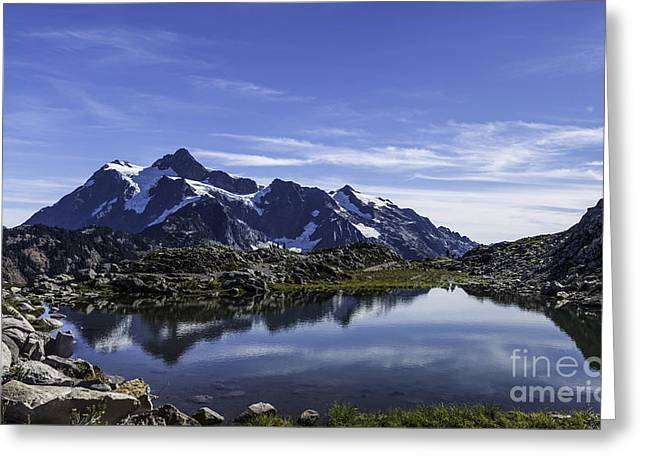 Mountain Pool Greeting Card by Frank Pali