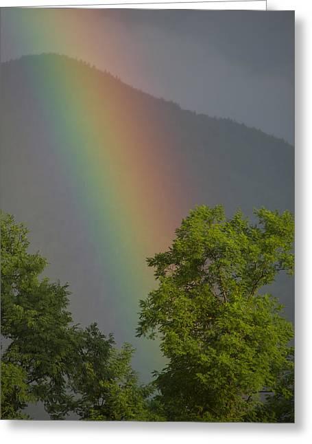 Mountain Rainbow Greeting Card