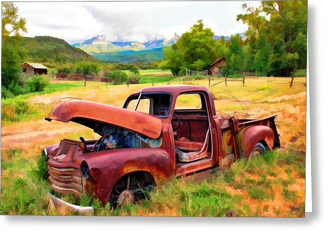 Mountain Ranch Truck Greeting Card