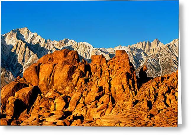Mountain Range, Alabama Hills, Mt Greeting Card by Panoramic Images