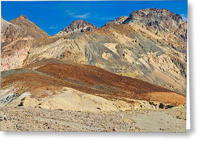 Mountain Range, Artists Drive, Death Greeting Card by Panoramic Images