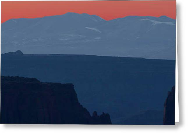 Mountain Range At Sunrise, La Sal Greeting Card by Panoramic Images