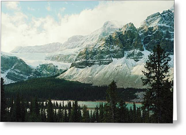 Mountain Range At The Lakeside Greeting Card by Panoramic Images