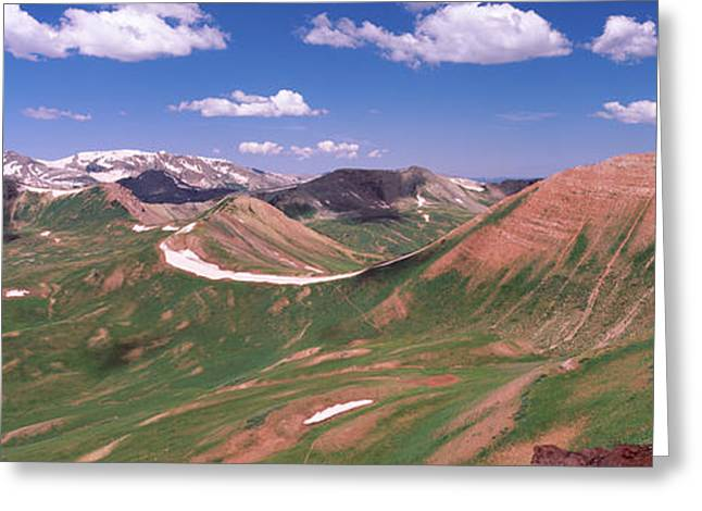 Mountain Range, Crested Butte, Gunnison Greeting Card