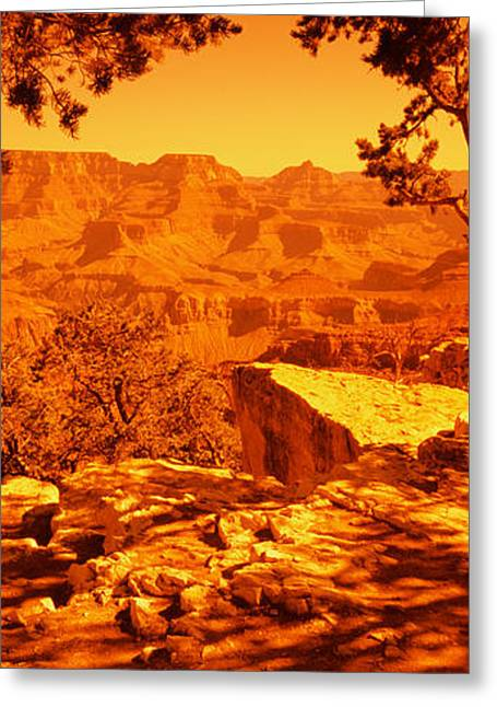 Mountain Range, Mather Point, South Greeting Card