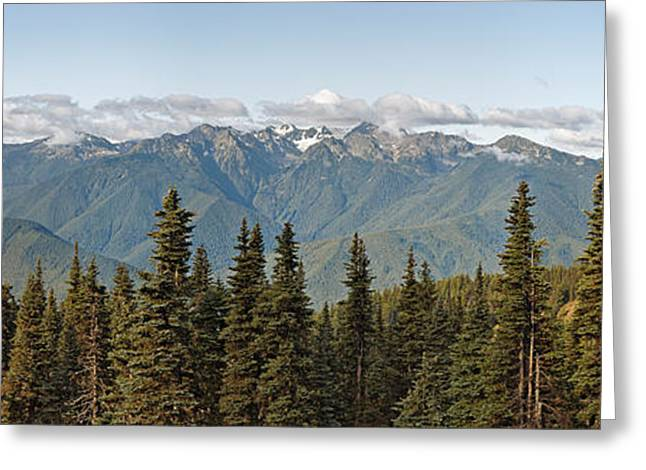 Mountain Range, Olympic Mountains Greeting Card by Panoramic Images