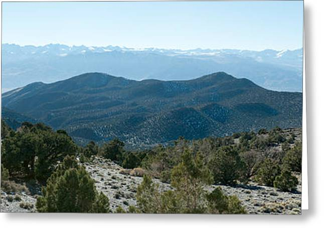Mountain Range, White Mountains Greeting Card by Panoramic Images