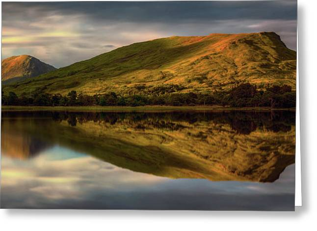 Mountain Reflection In Loch Awe Greeting Card