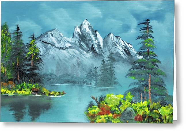 Mountain Retreat Greeting Card by Michael Daniels