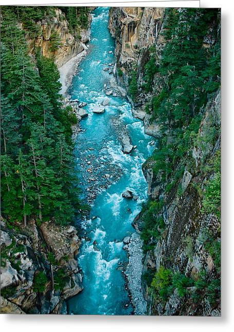 Mountain River Ganga In Valley Himalayas India Greeting Card