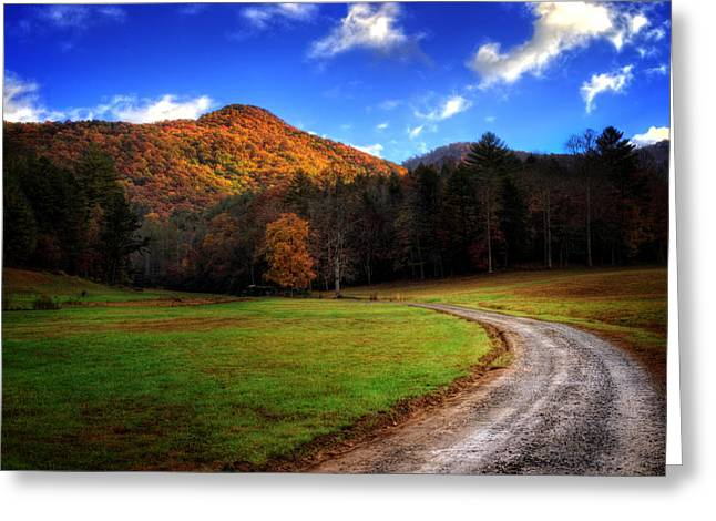 Mountain Road Greeting Card by Greg Mimbs