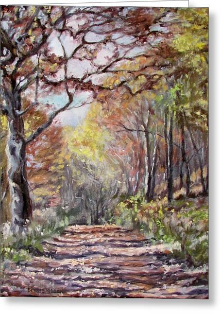 Mountain Road- Sugar Run Mountain In Autumn Greeting Card