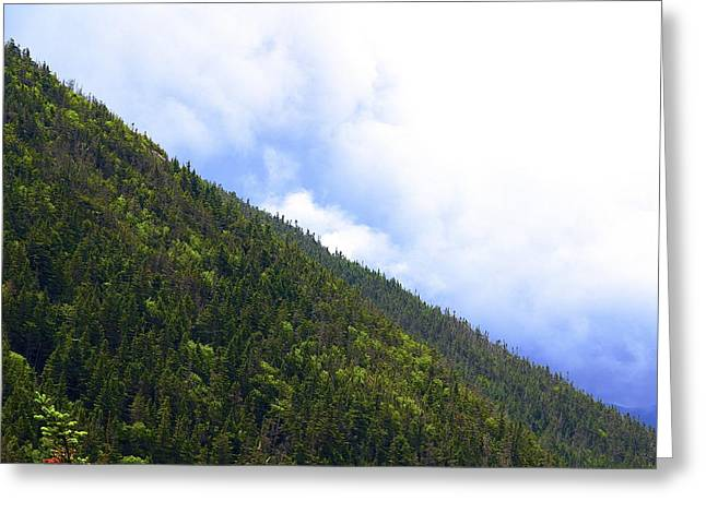 Mountain Side Greeting Card