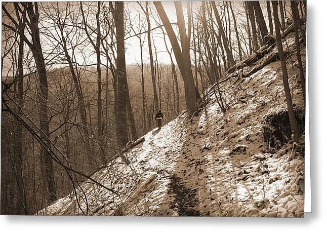 Mountain Side Greeting Card by Melinda Fawver