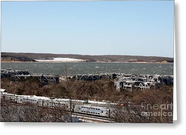 Mountain Side View Of Gardiner's Bay Greeting Card by John Telfer