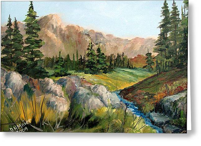Mountain Stream Greeting Card by Dorothy Maier