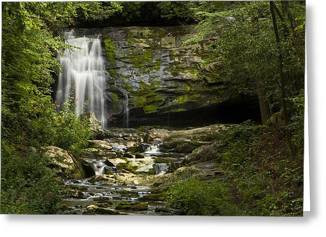 Mountain Stream Falls Greeting Card