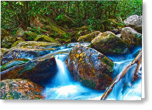 Greeting Card featuring the photograph Mountain Streams by Alex Grichenko