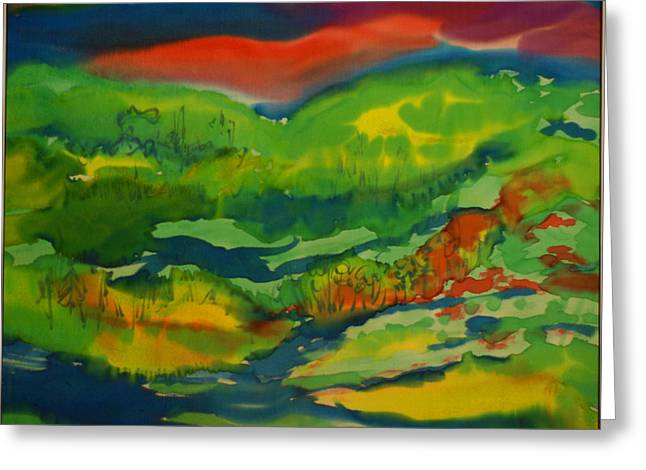 Greeting Card featuring the painting Mountain Streams by Susan D Moody
